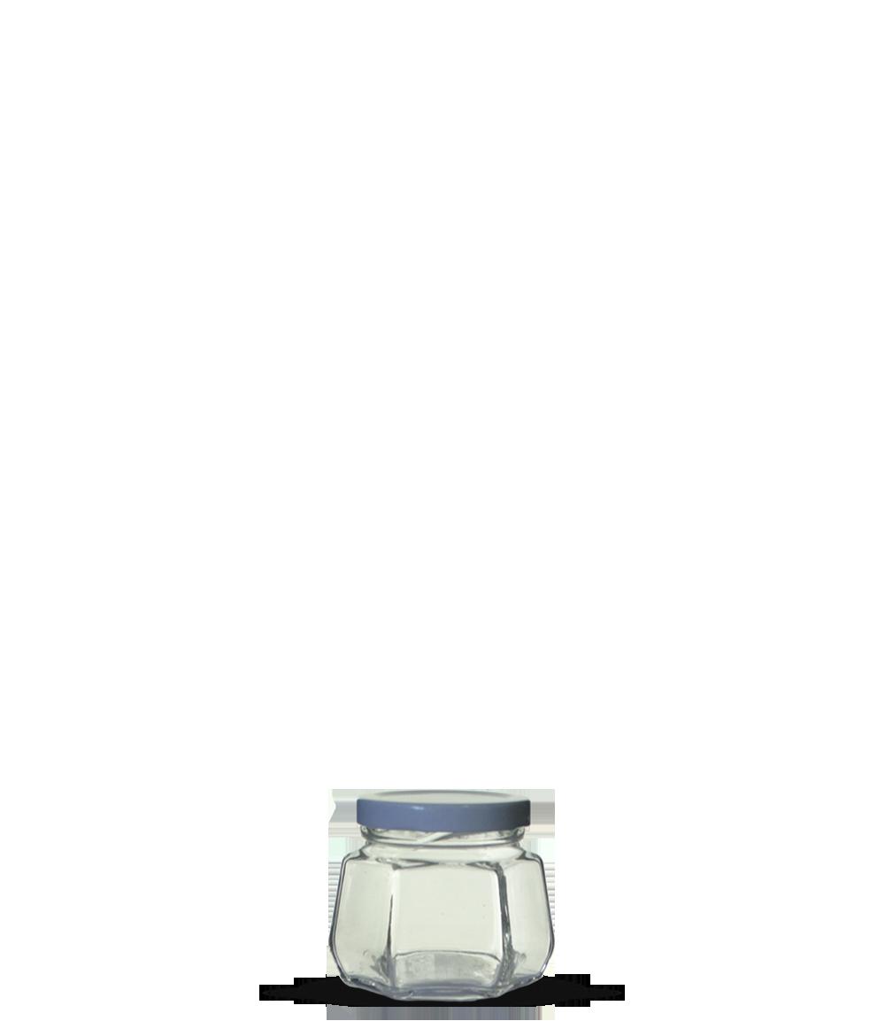 Pote Sextavado 170 ml (caixa c/ 24)