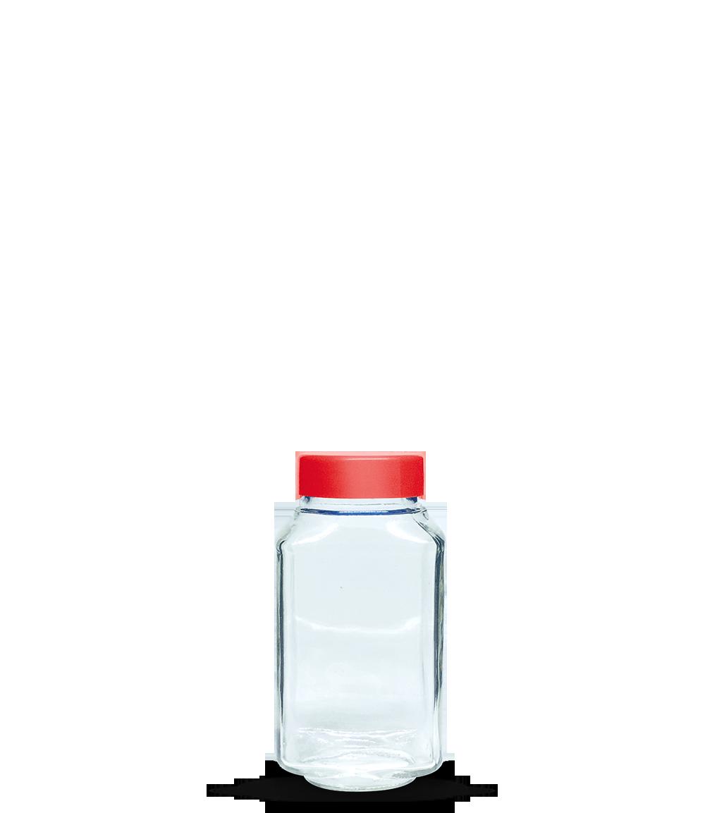 Pote Solúvel Quadrado 400 ml (caixa c/ 24)