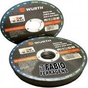 10 Peças - Disco De Corte P/aço E Aço Inox Wurth 115 X 1.0 X 22.23