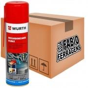 Caixa De Descarbonizante Spray W-max Wurth De 300ml - 6 Peças
