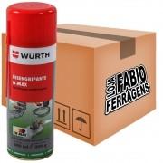 Caixa De Desengripante Lubrificante Spray W-max Wurth De 300ml - 6 Peças