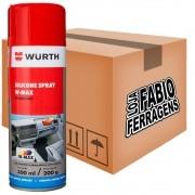 Caixa De Silicone Spray W-max De 300ml Wurth - 6 Peças