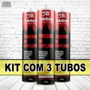 kit 3 Com Tubos - Cola Fixa PU Espelho Branco De 400 Gramas