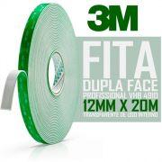 Fita Dupla Face 3m Profissional 12 mm X 20 Metros Vhb