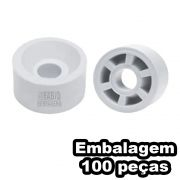 Suporte Prateleira 10x15 Redondo Cinza Cristal (Claro) Móveis 100 Unidades
