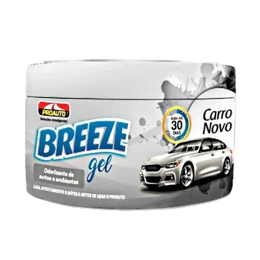 Aromatizante Cheirinho Breeze Gel ProAuto Carro Novo - 60 Gramas