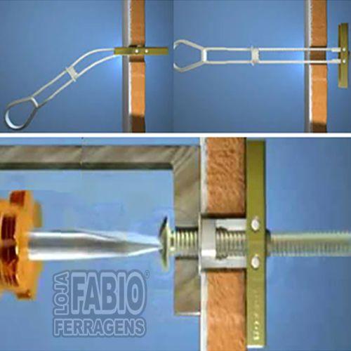 """Bucha Para Gesso Drywall SforBolt 1/4"""" - Suporta 20 kg"""
