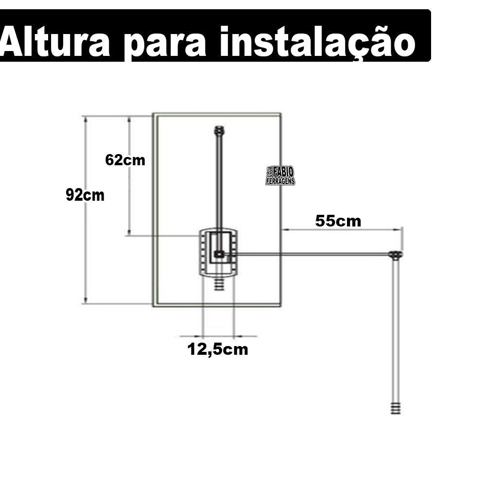 Cabideiro Basculante Extensível Preto 680 A 1000mm