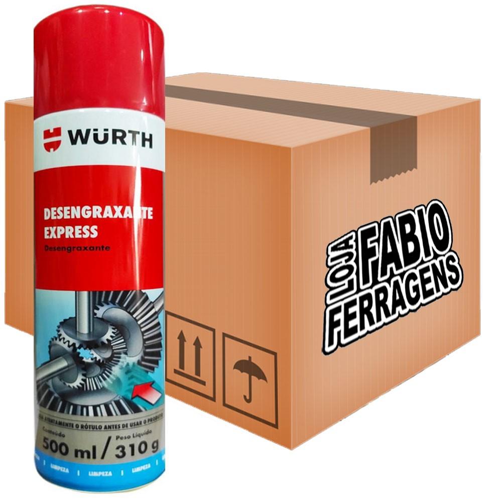 Caixa De Desengraxante Express Spray W-max Wurth De 300ml - 6 Peças