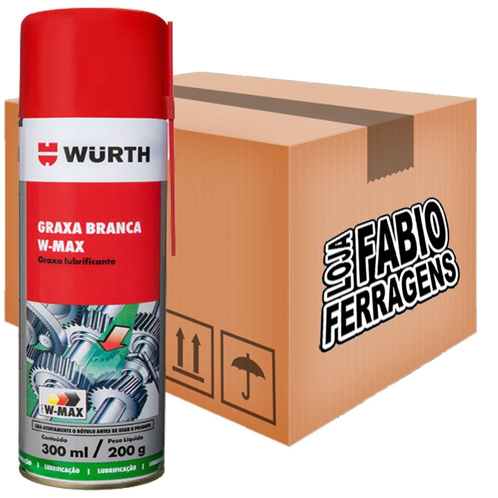 Caixa De Graxa Branca Lubrificante Spray Rolamentos Eixos W-max - 6 Peças