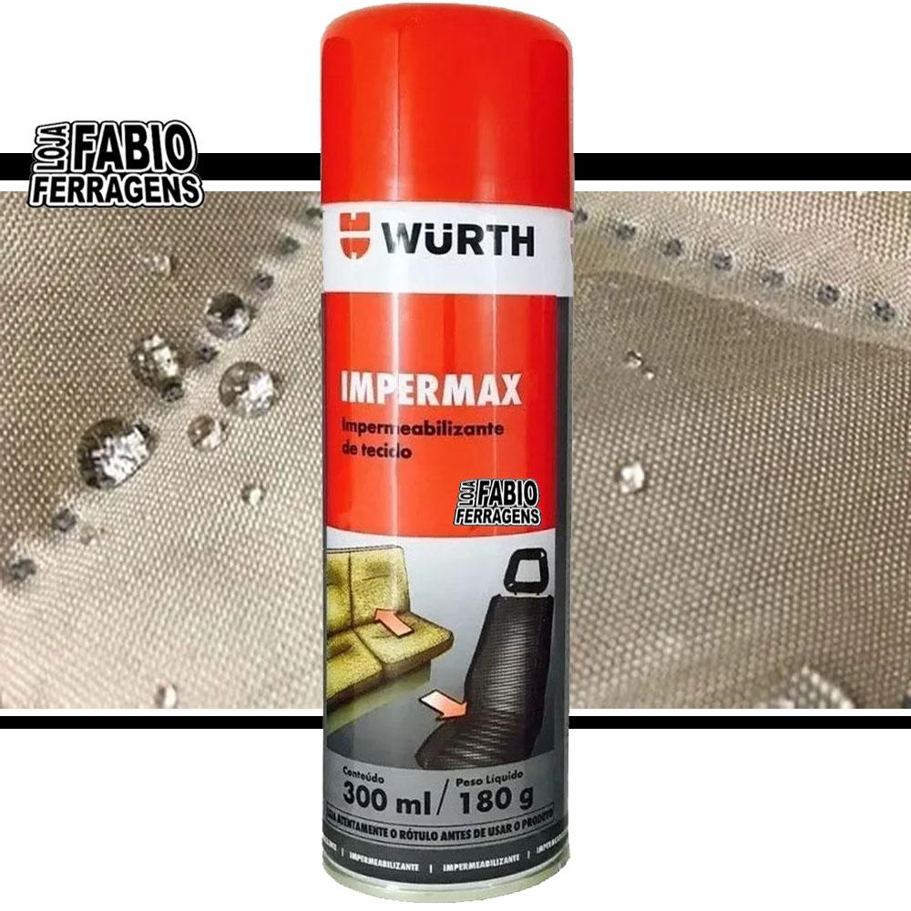 Caixa De Impermax Impermeabilizante Spray  Wurth De 300ml - 6 Peças