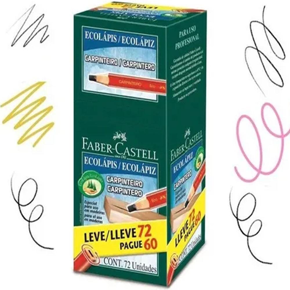Caixa De Lápis Faber Castell Para Carpinteiro Com 72 unidades