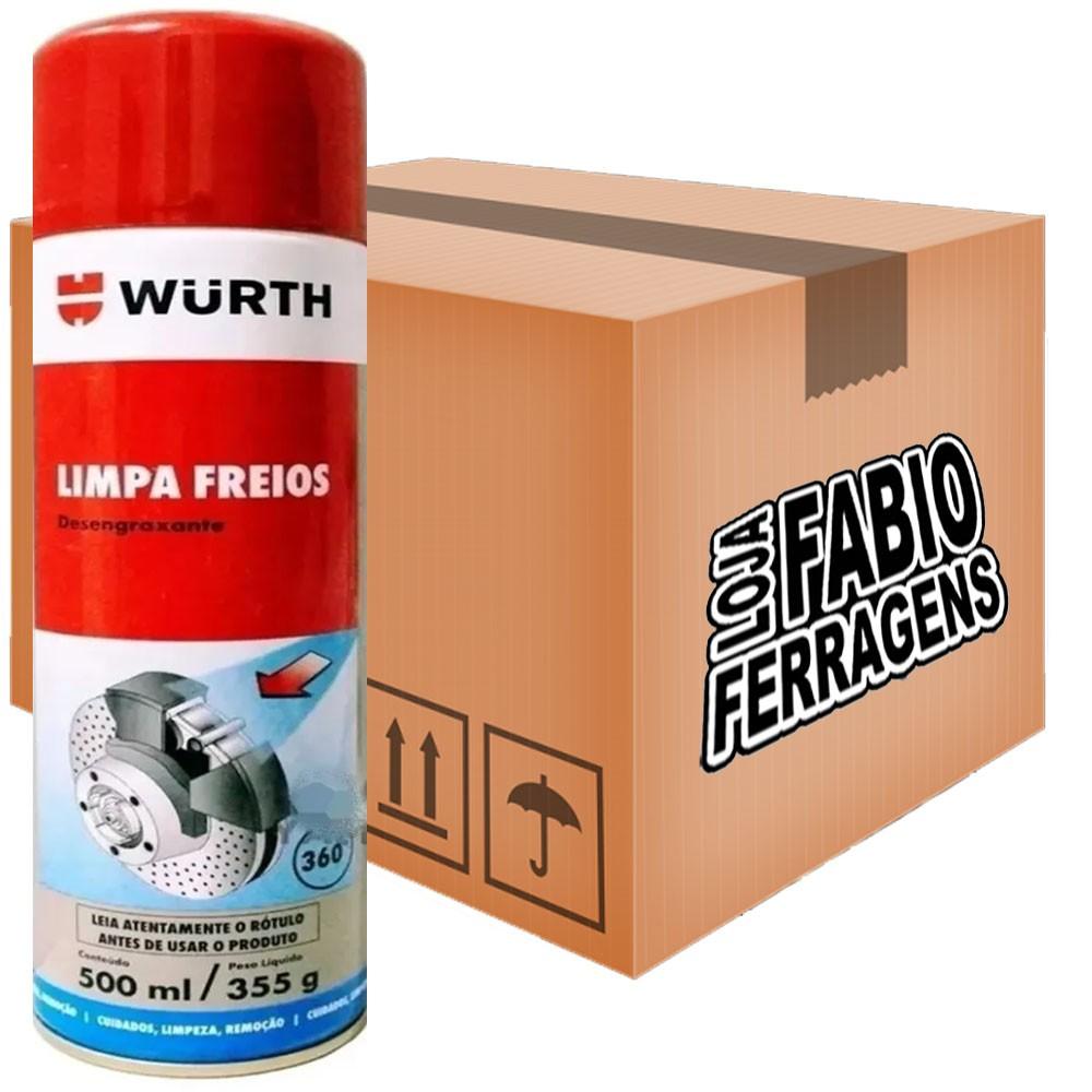 Caixa De Limpa Freios Desengraxante Wurth De 500ml - 6 Peças