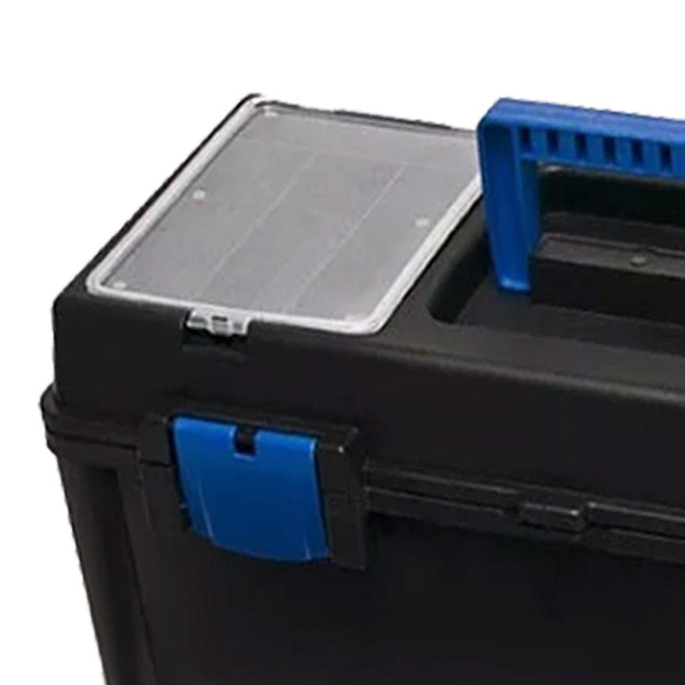 Caixa Maleta Better Master Para Ferramentas Reforçada Com 1 Bandeja | 2 Tampas Transparente
