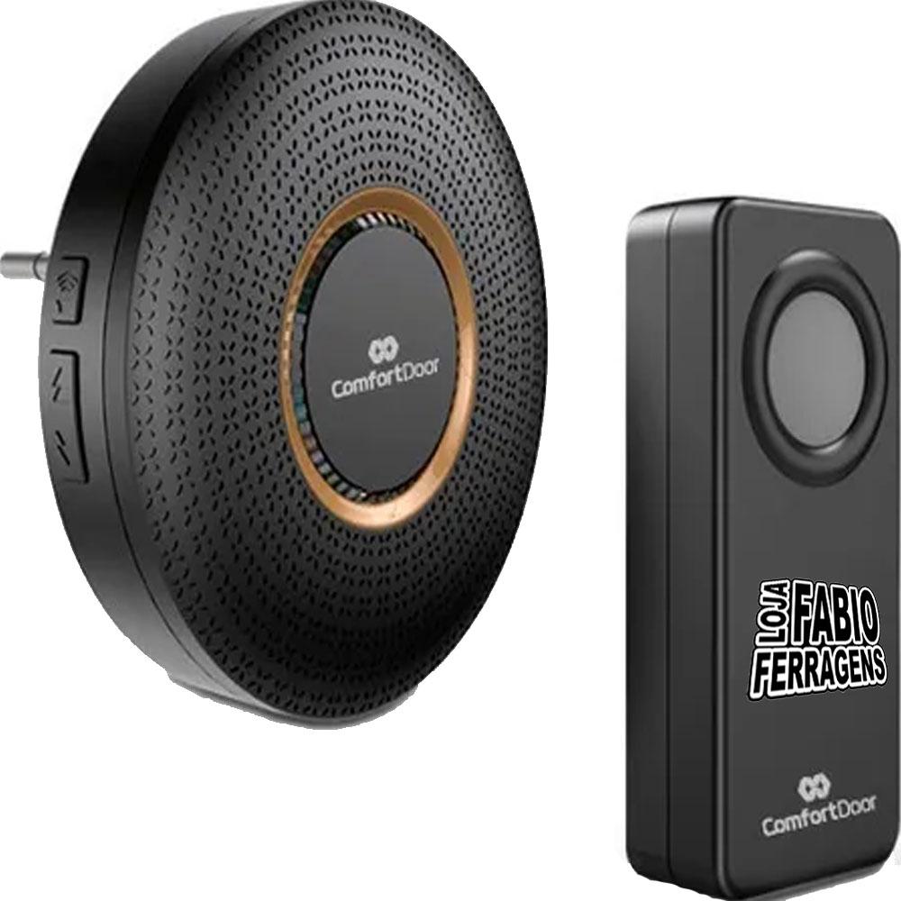 Campainha Preta Wireless Sem Fio Bivolt Casa / Empresa