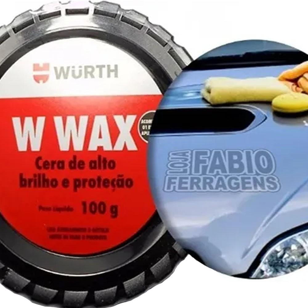 Cera Automotiva Cristalizadora Alto Brilho Wurth W Wax 100g