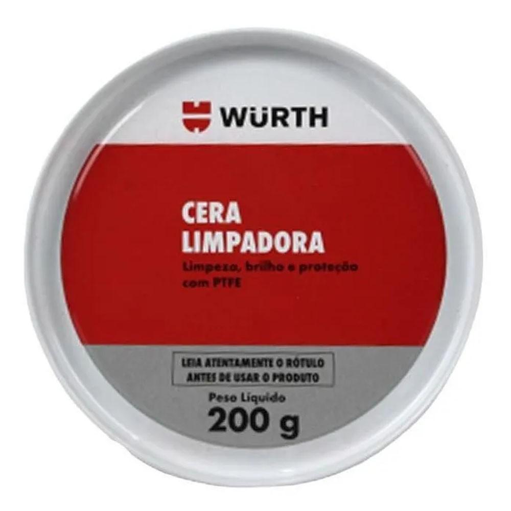 Cera Automotiva Wurth Limpadora Carnaúba Série Ouro 200 gramas