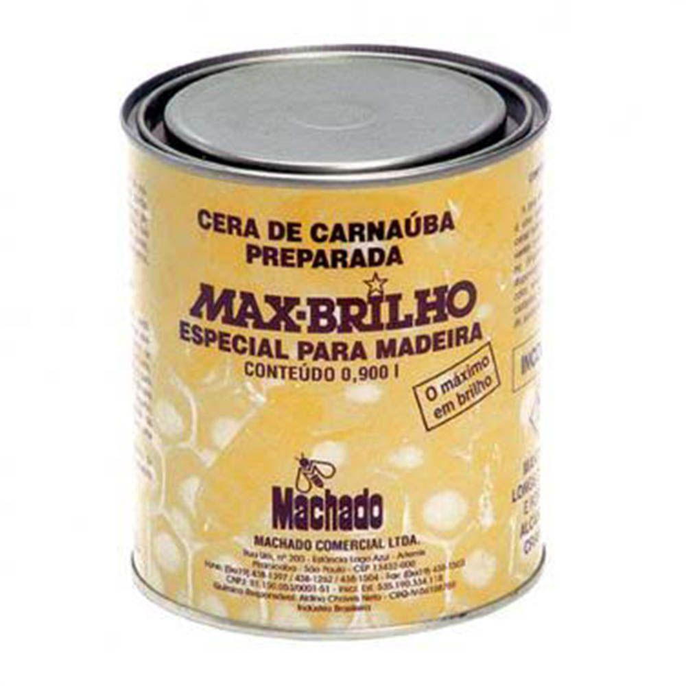 Cera de Carnaúba Max Brilho INCOLOR De 900ml