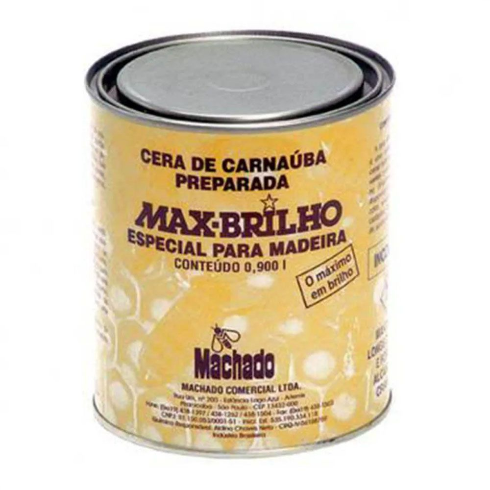 Cera de Carnaúba Max Brilho TABACO De 900ml
