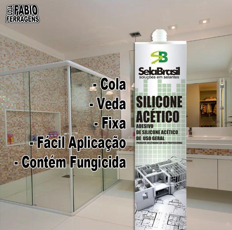 Cola Selante Silicone Acético Incolor De 250 Gramas