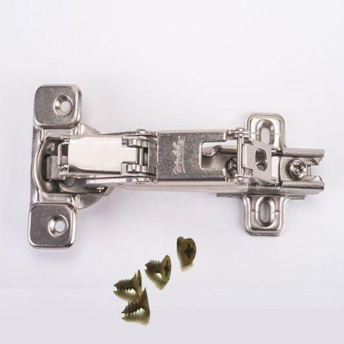 Dobradiça De Pressão Para Móveis De 35mm 165º Baixa / Reta Com Parafusos
