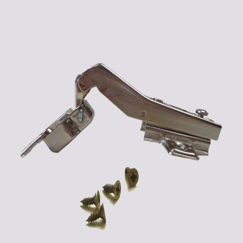 Dobradiça De Pressão Para Móveis De 35mm 45º Abertura de 95º Com Parafusos