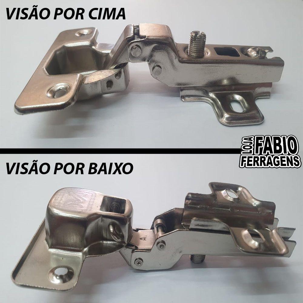 Dobradiça Para Móveis De 35mm Curva / Alta - 100 Peças
