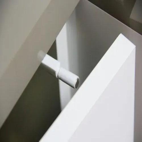 Fecho Pulsador Branco Magnético Para Móveis
