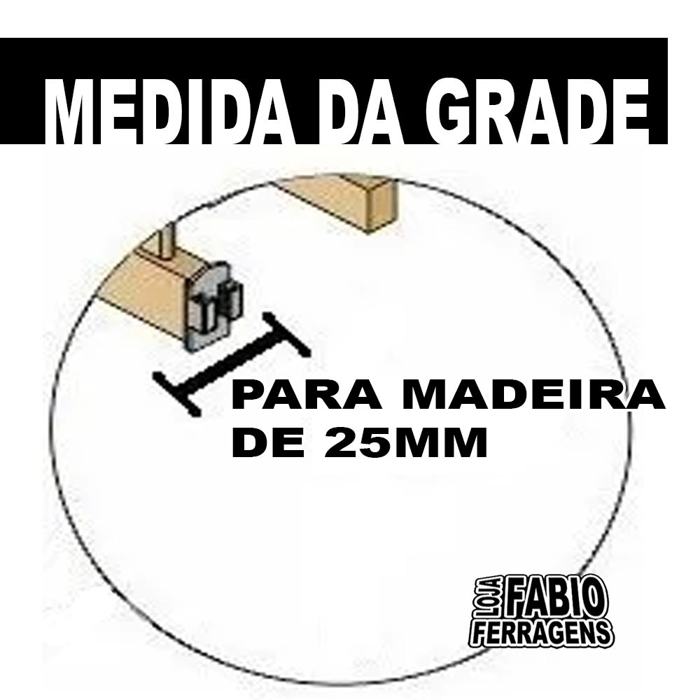 Ferragens Para Grade Berço Completo Para Madeira De 25mm
