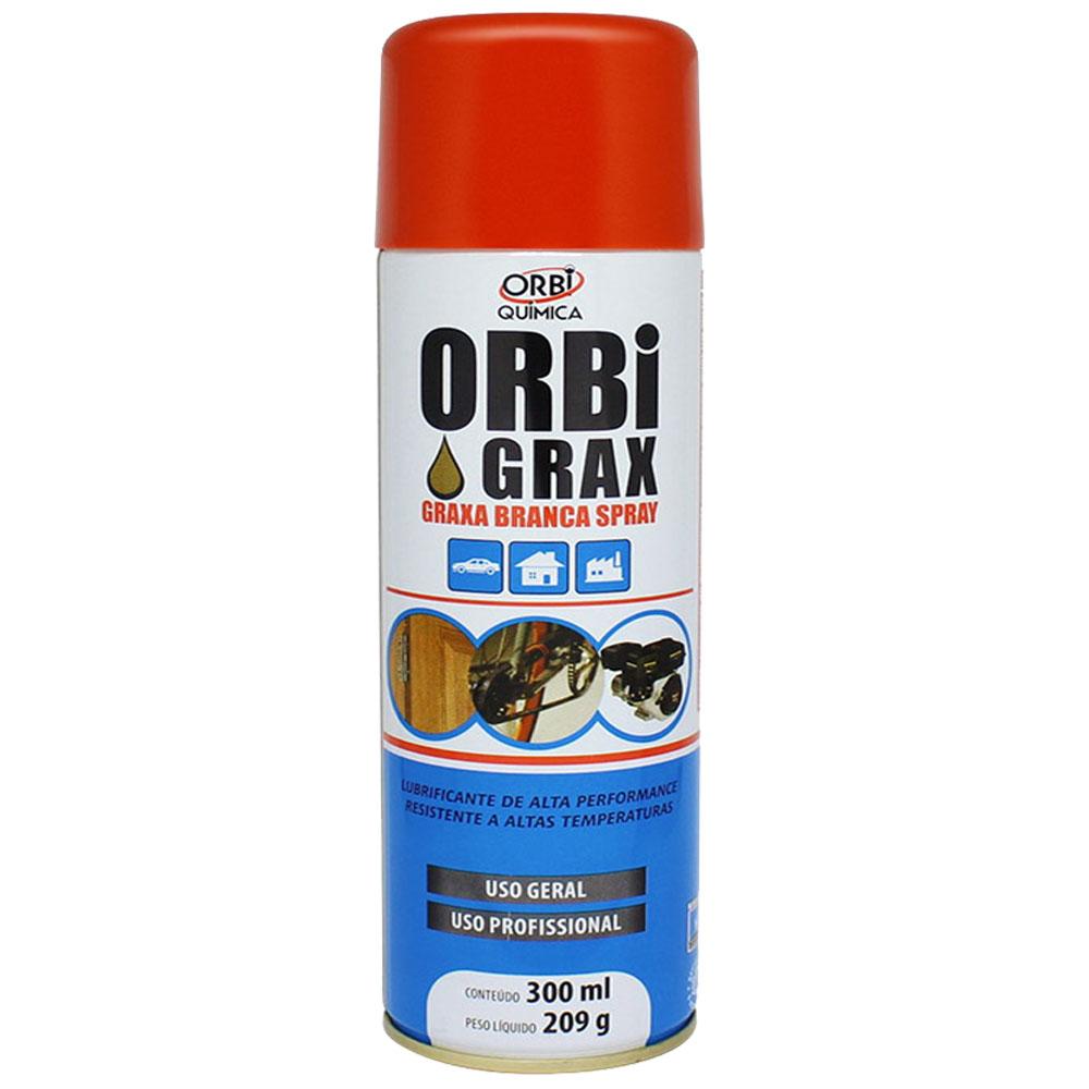 Graxa Branca Lubrificante Spray Rolamentos De 300ml / 209g - Orbi Quimica