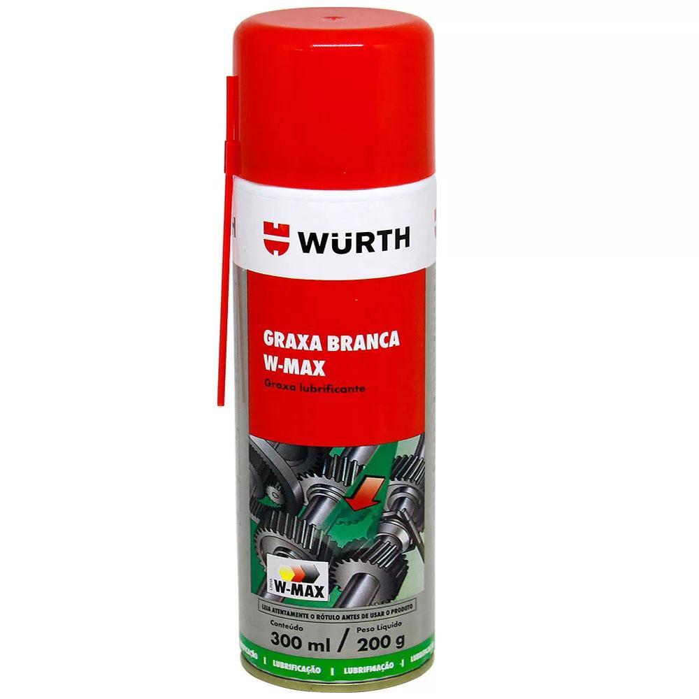 Graxa Branca W-Max Lubrificante Spray Rolamentos Eixos-300ml / 200gr - Wurth