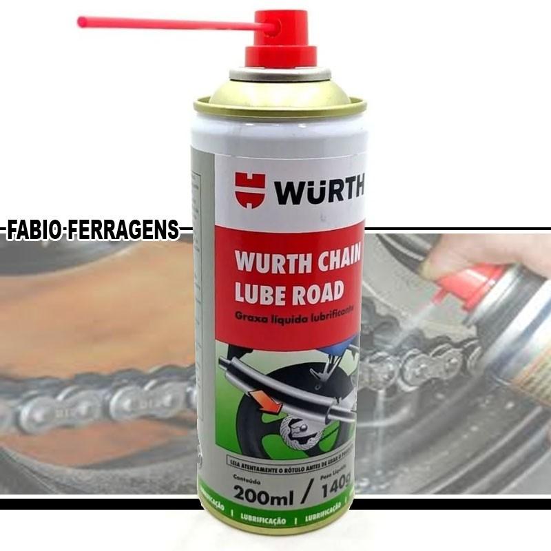 Graxa Spray Líquida Lubrificante Chain Lube Road 200ml - Wurth