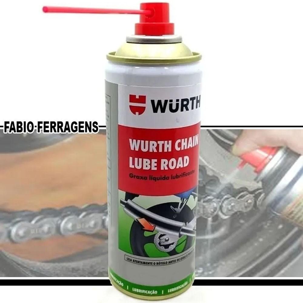 Graxa Spray Líquida Lubrificante Chain Lube Road 500ml - Wurth