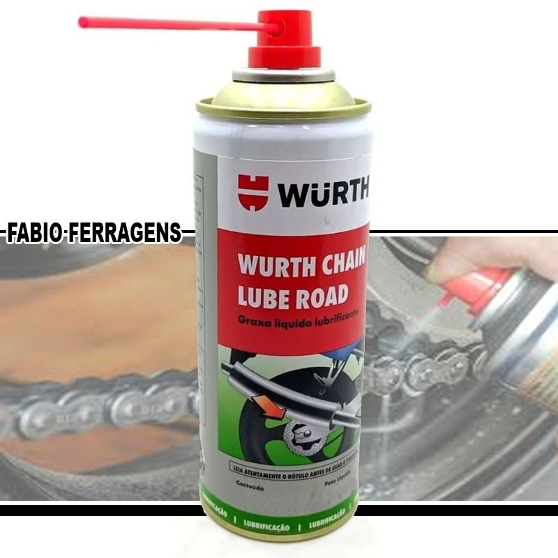 Graxa Spray Líquida Lubrificante Chain Lube Road 65ml - Wurth