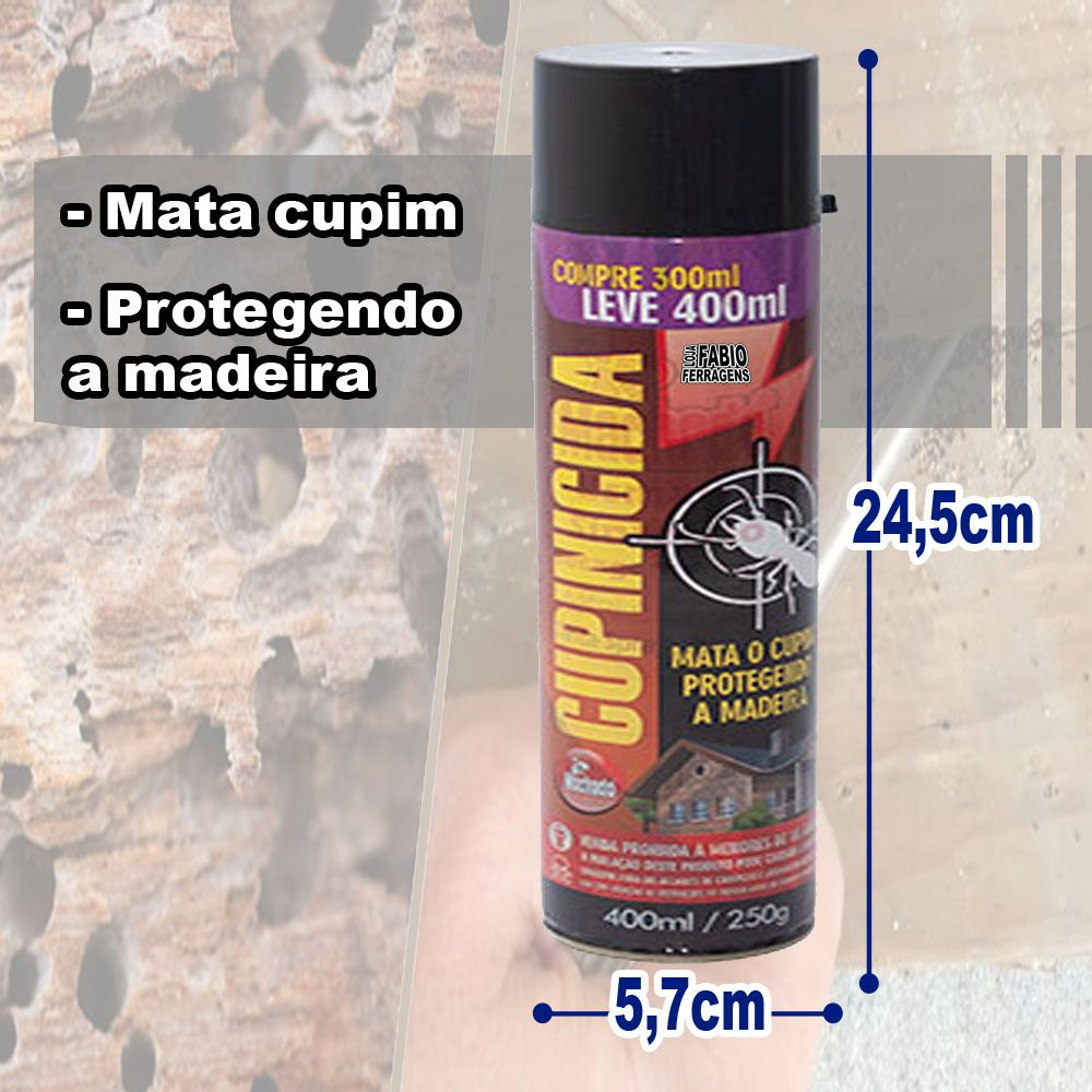 Spray Cupinicida Machado De 400ml