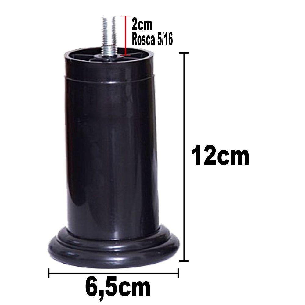 Jogo De Pés De Cama Box De 12 Cm ( 4 Fixos | 2 Com Rodízios )
