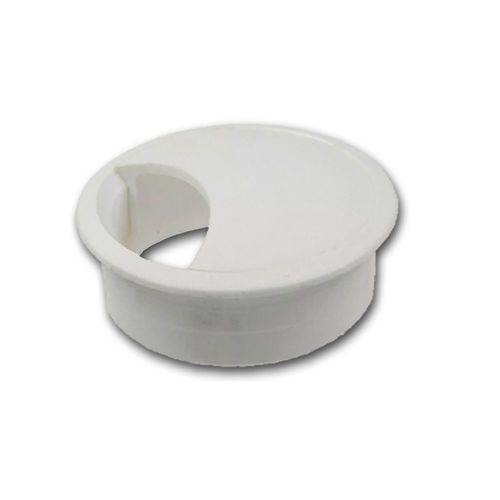 Kit 10 - Passa Fio Para Móveis Com Diâmetro de 59 mm Branco
