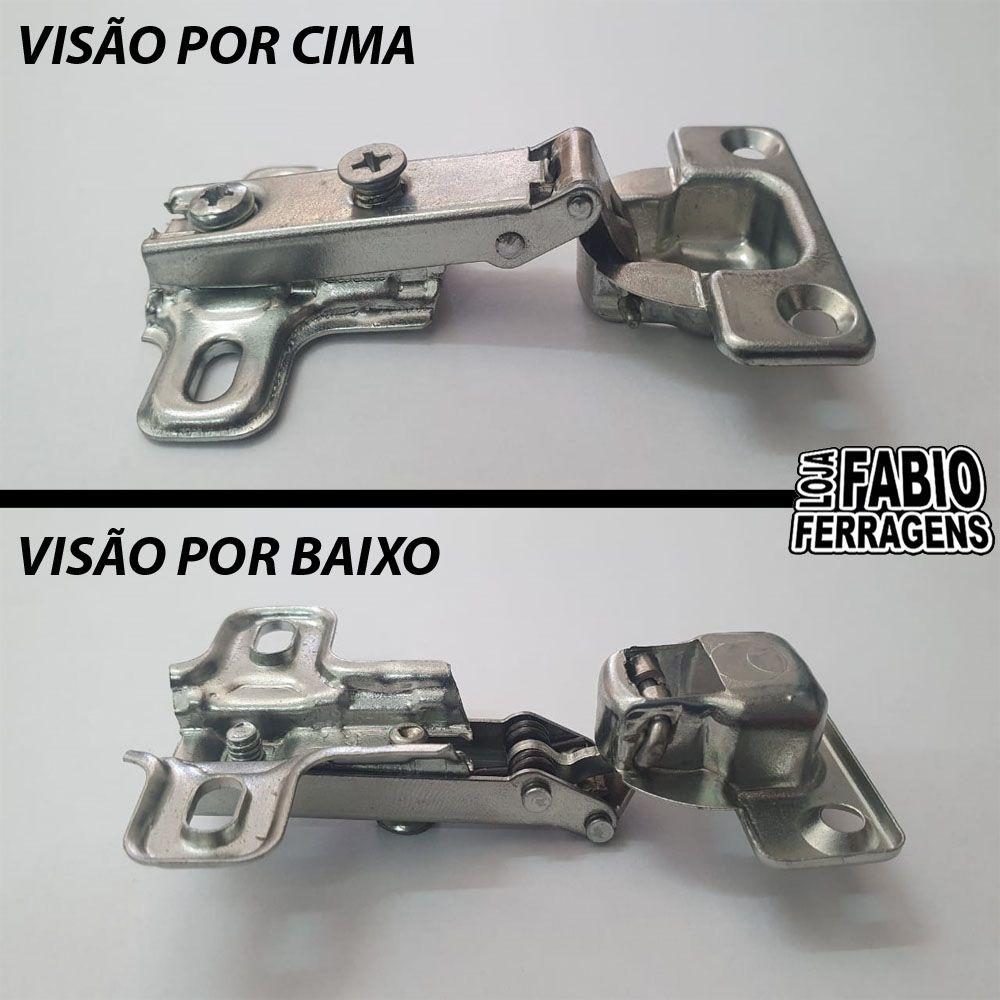 Kit 10 Peças - Dobradiça Para Móveis De Madeira Mini Al2 26mm Reta  / Baixa