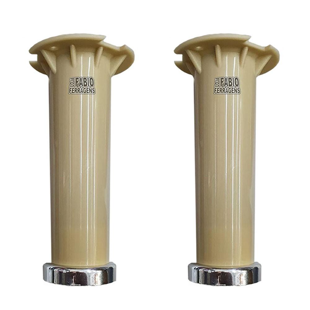 kit 2 - Pé Marfim Para Móveis Para Móveis Aço Itatiaia De 16 a 18cm Com Regulagem Genuíno