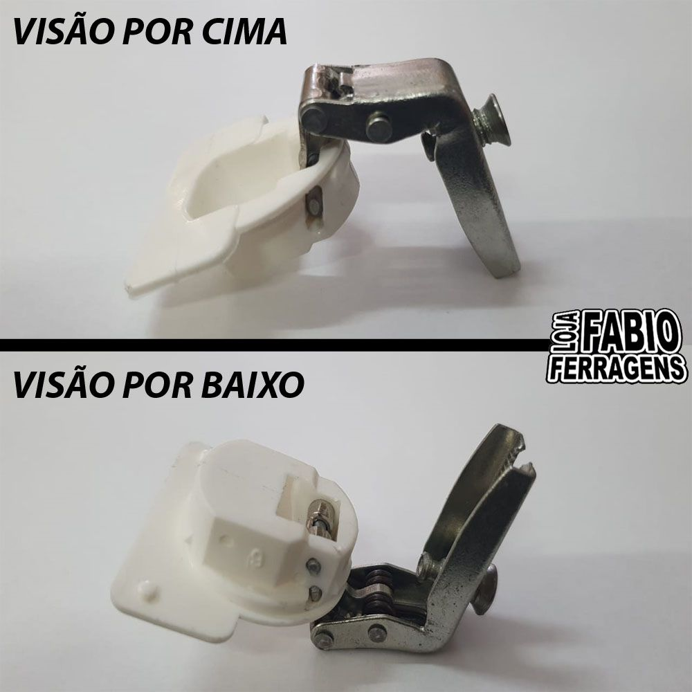 Kit 4 Peças - Dobradiça Canto L De Pressão Para Móveis De Aço De 26mm Itatiaia / Cozimax / Inamel