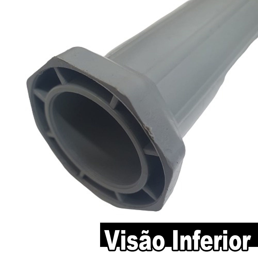 Kit 6 Peças - Pé Roma Para Armário / Gabinete Cinza Com Regulagem De 13 a 16cm