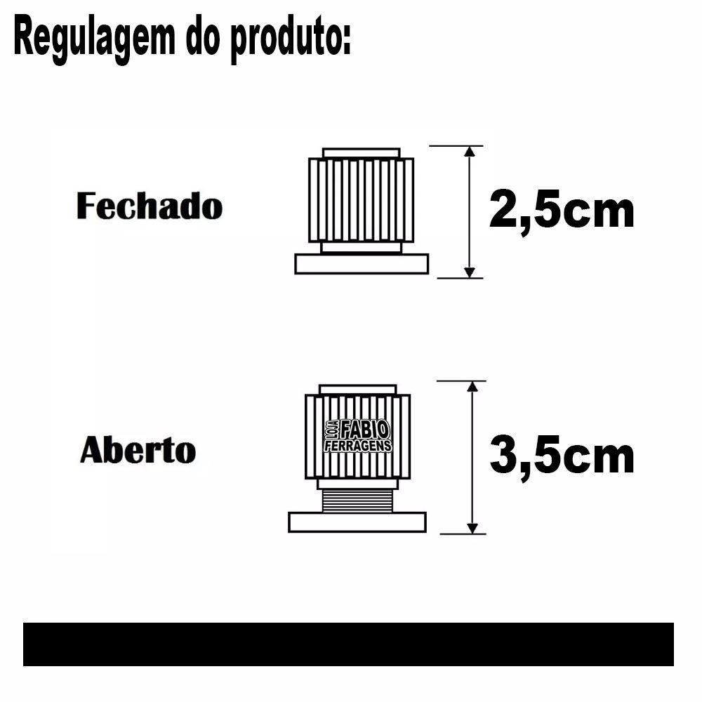 Kit Com 10 Peças - Distanciador Branco Para Corrediça Regulagem  25 A 35mm
