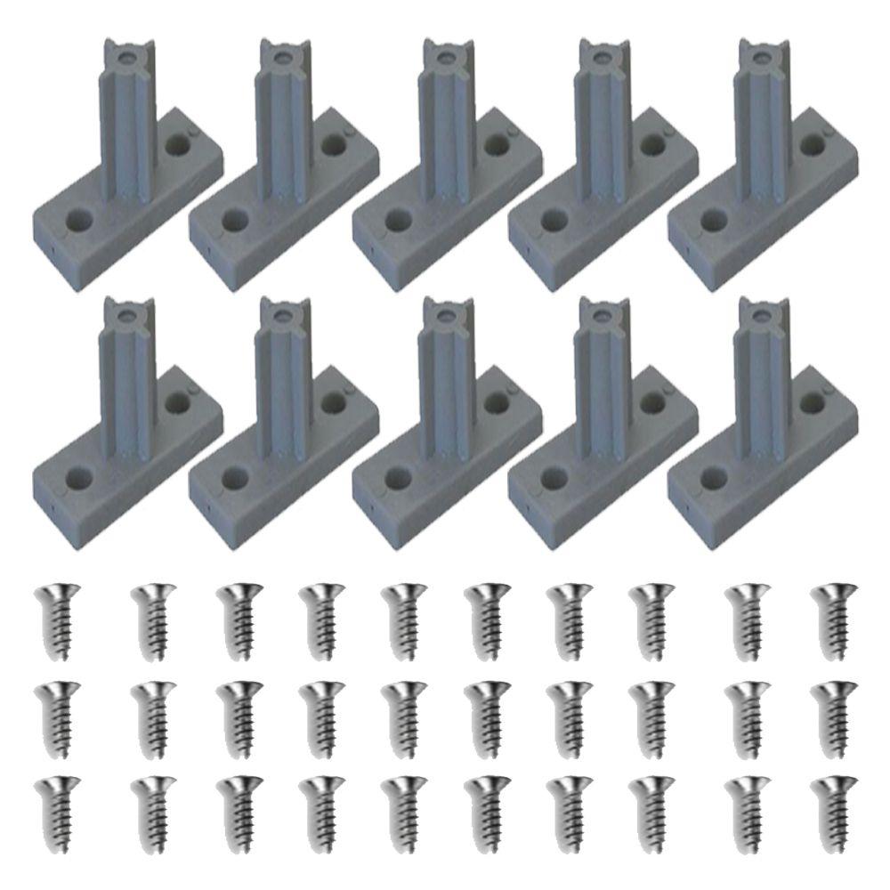 Kit Com 10 Peças - Distanciador Cinza Para Corrediça De 25mm