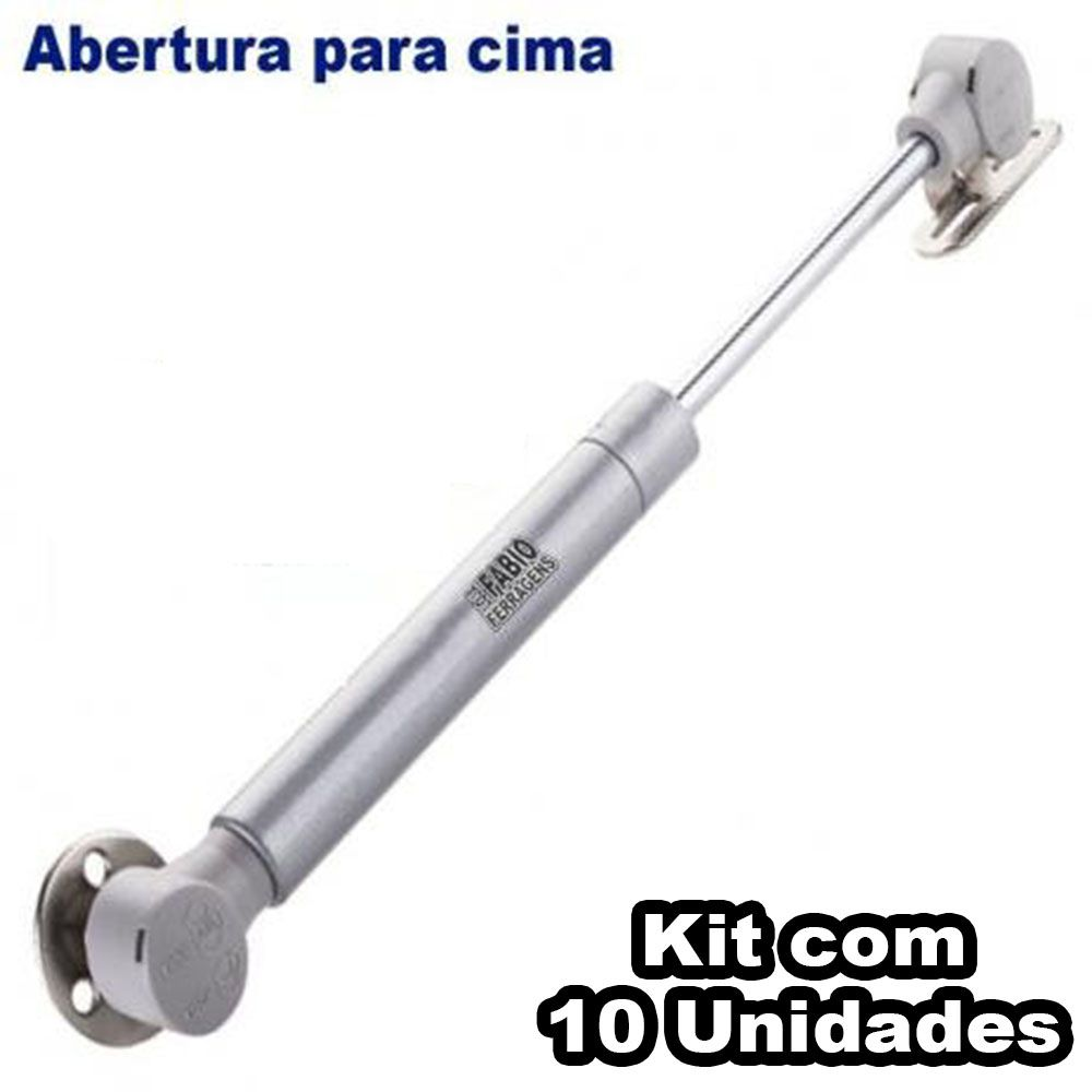 Kit Com 10 Peças - Pistão A Gás Para Móveis Armário De Cozinha 60N ou 6 Kilos
