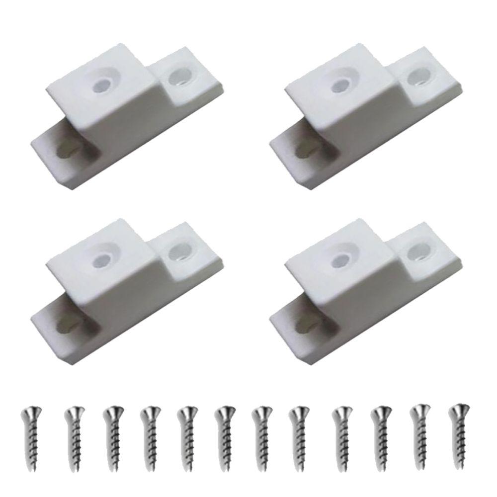 Kit Com 4 Peças - Distanciador Branco Para Corrediça De 32mm