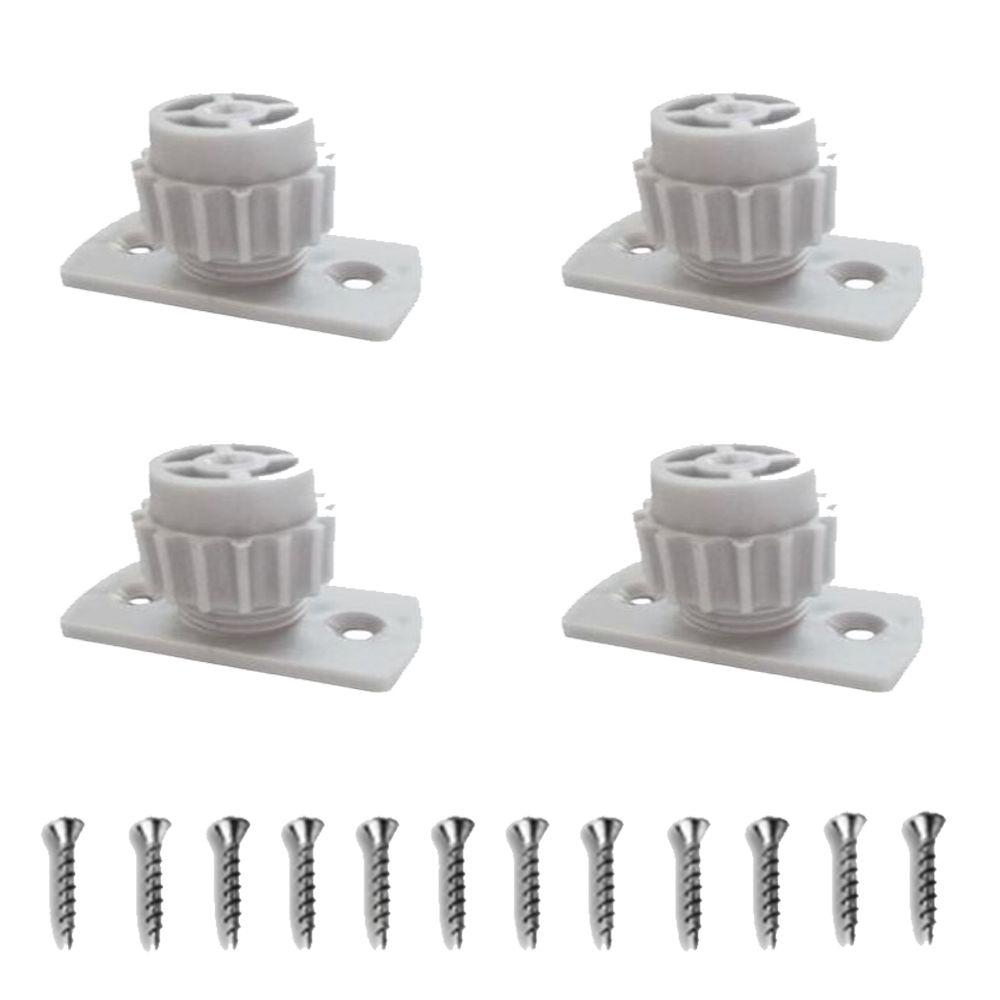 Kit Com 4 Peças - Distanciador Branco Para Corrediça Regulagem 25 A 35mm
