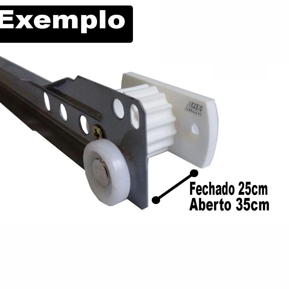 Kit Com 4 Peças - Distanciador Cinza Para Corrediça Regulagem 25 A 35mm