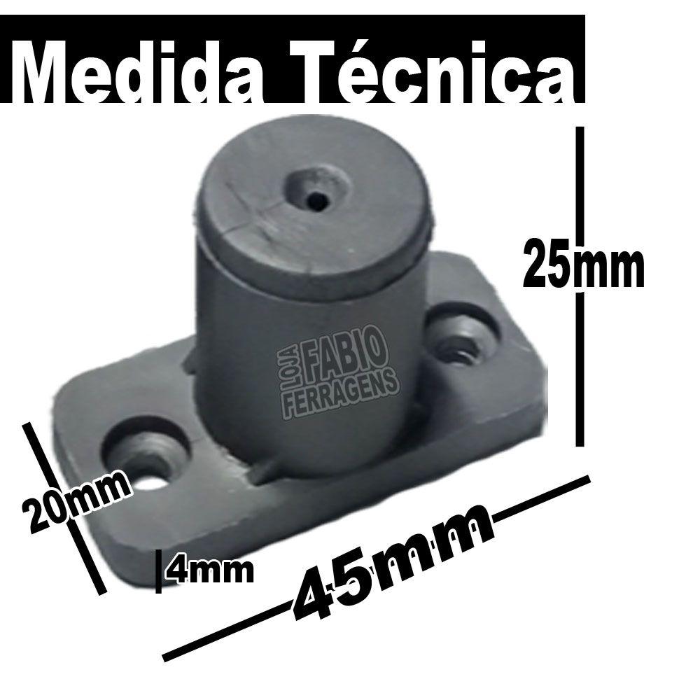 Kit Com 4 Peças - Distanciador Oco Cinza Para Corrediça De 25mm