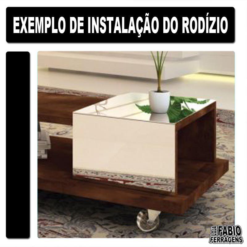 Kit De Rodizio Silicone / Gel Para Moveis De 35mm (4 Com Freio)