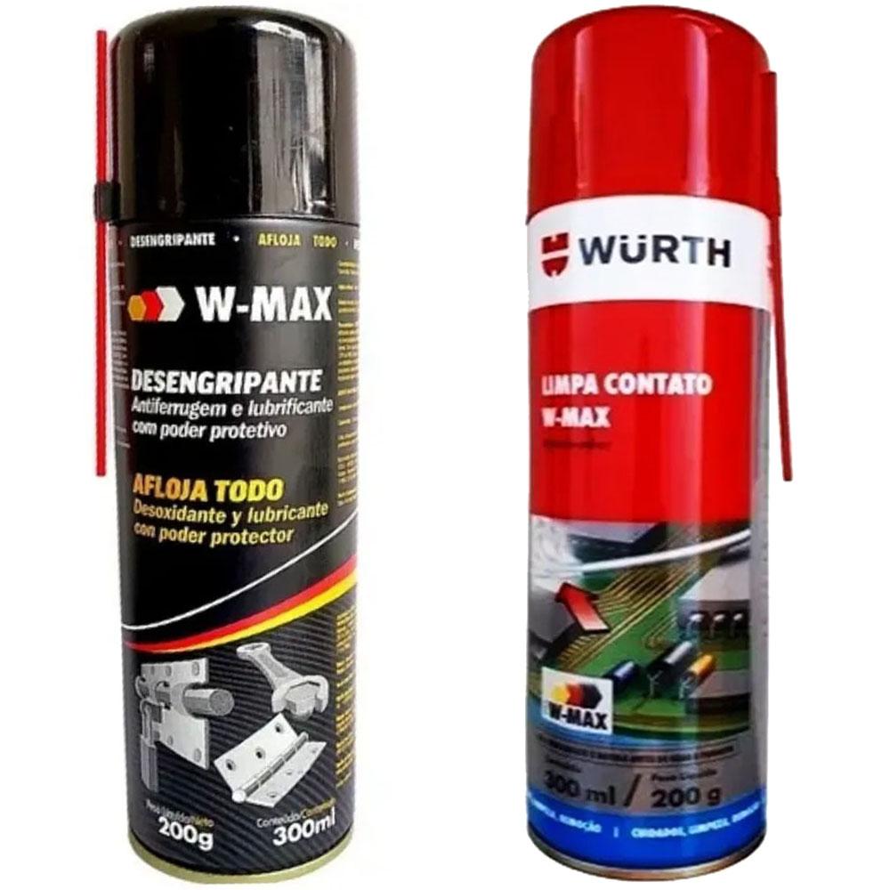 kit Limpa Contato + Desengripante W-Max - Wurth